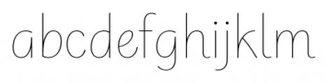 Ella FY Thin Font LOWERCASE