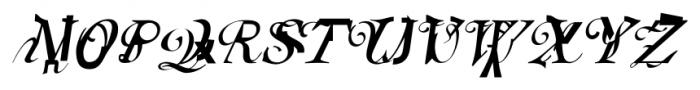 Elliott's Blue Eyeshadow Font UPPERCASE