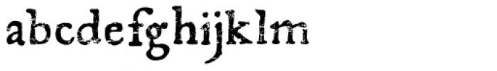 El Franco Distressed Font LOWERCASE