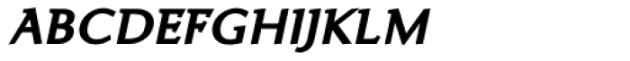 Ela Demiserif Bold Caps Italic Font LOWERCASE