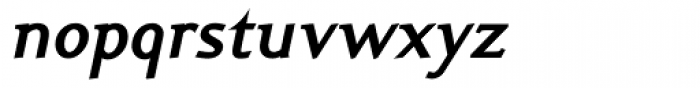 Ela Demiserif Bold Italic Font LOWERCASE
