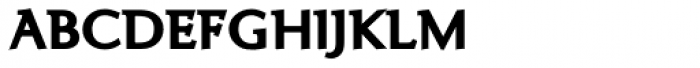 Ela Demiserif ExtraBold Caps Font LOWERCASE