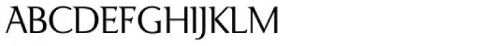 Ela Demiserif ExtraLight Caps Font LOWERCASE
