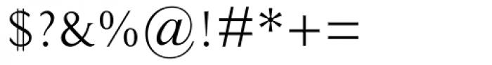Ela Demiserif Light Caps Font OTHER CHARS