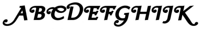 Ela Swashes Black Italic Font UPPERCASE