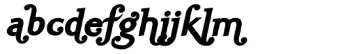 Ela Swashes Black Italic Font LOWERCASE
