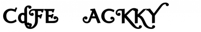 Ela Swashes ExtraBold Font OTHER CHARS