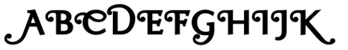 Ela Swashes ExtraBold Font UPPERCASE