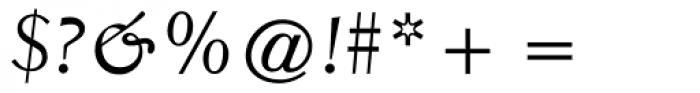 Elante Italic Font OTHER CHARS