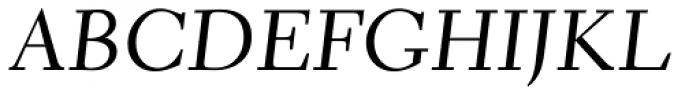 Elante Italic Font UPPERCASE
