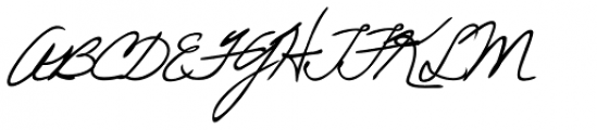 Eleanor Handwriting Font UPPERCASE