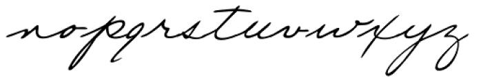 Eleanor Handwriting Font LOWERCASE