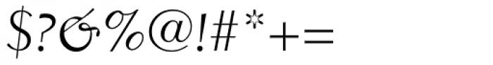 Electra Cursive Oldstyle Figures Font OTHER CHARS