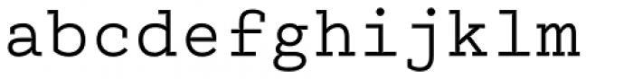 Electrica Regular Font LOWERCASE