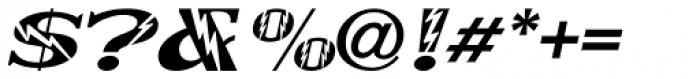 Electrostatic Oblique JNL Font OTHER CHARS