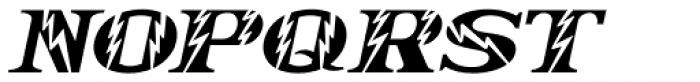Electrostatic Oblique JNL Font UPPERCASE