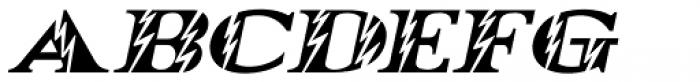Electrostatic Oblique JNL Font LOWERCASE