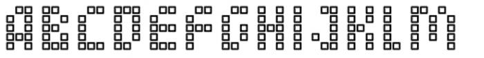 Element 15 Cells Font UPPERCASE