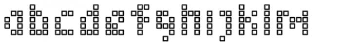 Element 15 Cells Font LOWERCASE