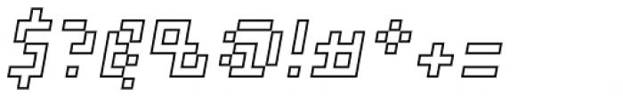 Element 15 Outline Oblique Font OTHER CHARS