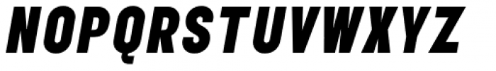 Elephant Black Oblique Font UPPERCASE