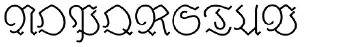 Elfen Fraktur A Font UPPERCASE