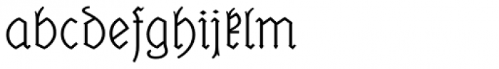 Elfen Fraktur A Font LOWERCASE
