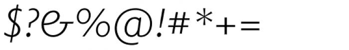 Elido Light Italic Font OTHER CHARS