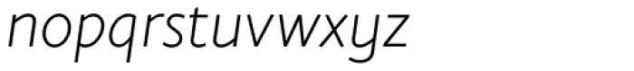 Elisar DT Infant Light Italic Font LOWERCASE
