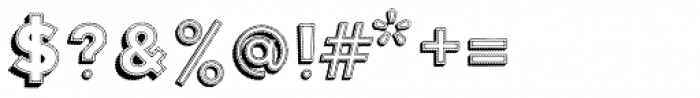 Elise 3D Font OTHER CHARS
