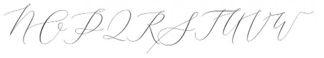 Elise Dafisa Script Font UPPERCASE