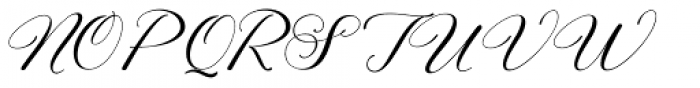 Eliyamoli script Regular Font UPPERCASE