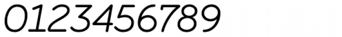Ely Rounded Light Italic Font OTHER CHARS