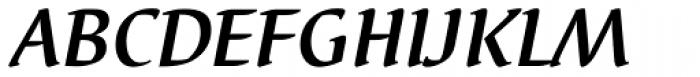 Elysa EF Bold Italic OsF Font UPPERCASE