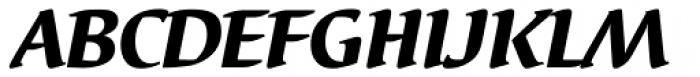 Elysa EF Heavy Italic OsF Font UPPERCASE