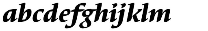 Elysa EF Heavy Italic OsF Font LOWERCASE