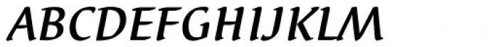 Elysa EF Medium Italic SC Font LOWERCASE