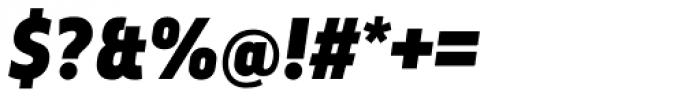 Elysio Black Italic Font OTHER CHARS