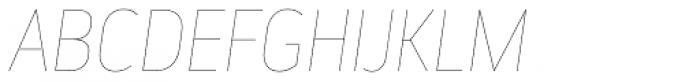 Elysio Hairline Italic Font UPPERCASE