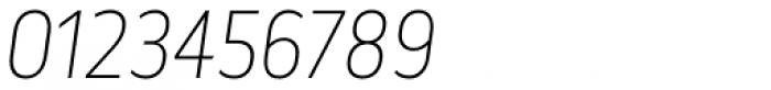 Elysio Thin Italic Font OTHER CHARS