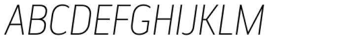 Elysio Thin Italic Font UPPERCASE