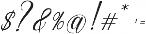 Emainell Script Regular otf (400) Font OTHER CHARS