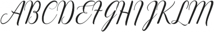 Emainell Script Regular otf (400) Font UPPERCASE