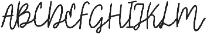 Embarla Firgasto Signature otf (700) Font UPPERCASE