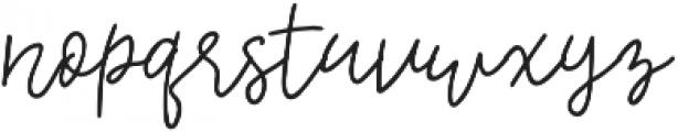 Embarla Firgasto Signature otf (700) Font LOWERCASE
