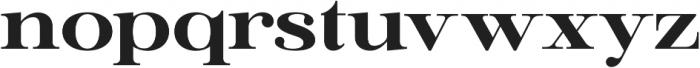Ember ExtraBold otf (700) Font LOWERCASE