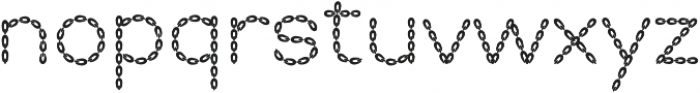 Embroidery Chainstitch otf (400) Font LOWERCASE