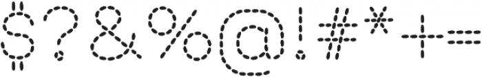 Embroidery Stitch otf (400) Font OTHER CHARS