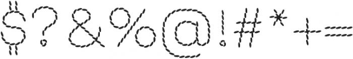 EmbroideryBackstitch otf (400) Font OTHER CHARS