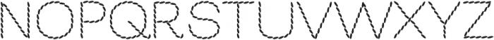 EmbroideryBackstitch otf (400) Font UPPERCASE